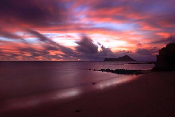 Amazing sunrise Waimanalo Beach Oahu Hawaii