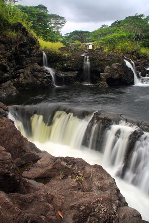 Waterfalls at Boiling Pots Wailuku River Hilo Hawaii