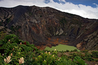 Irazu Volcano and crater, Costa Rica