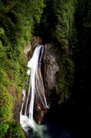 Twin Falls located in Olallie State Park, Washington, waterfall