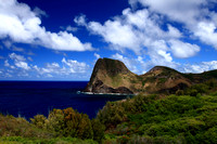 Kahakuloa Head on north shore of Maui perfect day Pacific blue Hawaii