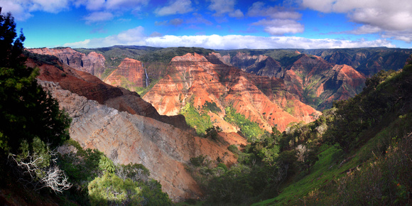 Waipoo Falls Waimea Canyon Grand Canyon of Pacific Kokee State Park Kauai Hawaii