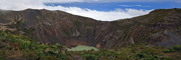 Craters of Irazu Volcano Costa Rica