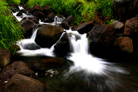 Small waterfall in Iao Stream Maui Hawaii