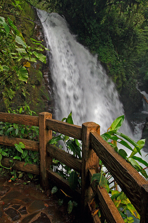 waterfall in La Paz Gardens, Costa Rica
